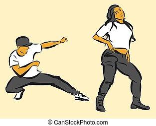 quadril, pulo, coreografia,