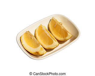 Lemon citrus fruit slices