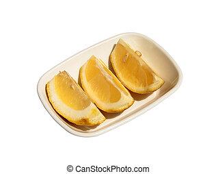 Lemon citrus fruit slices