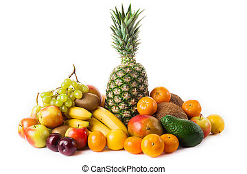 fruits isolated on white