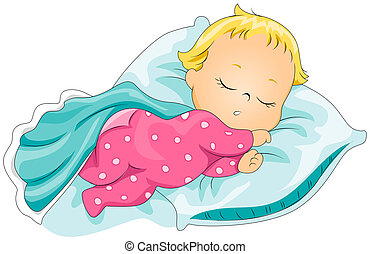 Sleeping Baby with Clipping Path
