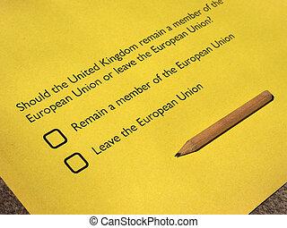 Brexit referendum in UK - June 23 referendum: Should the...