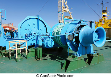mooring equipment on-board  ship