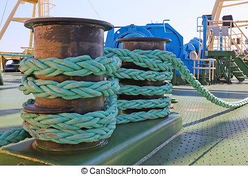 mooring equipment on-board large  ship