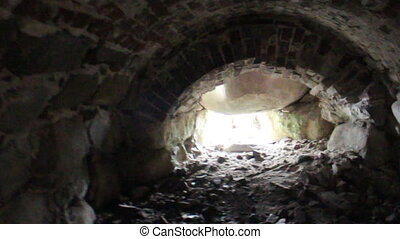 underground passage from old fortress - in search of...