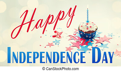 happy independence day, celebration, patriotism and holidays...