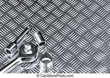Mechanical socket background - Mechanical background image...