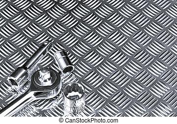 Mechanical socket background - Mechanical background image...
