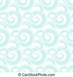 Vector seamless pattern with curls and swirls