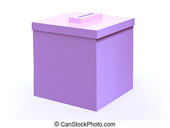 Pink election ballot box