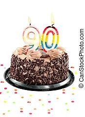 Ninetieth, cumpleaños, o, aniversario