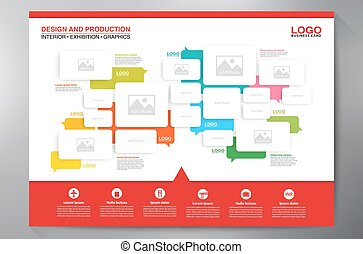 Exhibition Backdrop Displays Template for Print. Vector and...