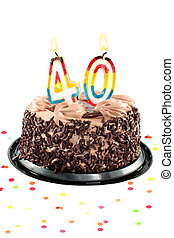 Fortieth, cumpleaños, o, aniversario