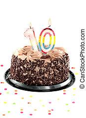 Tenth birthday or anniversary - Chocolate birthday cake...