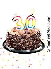 Thirtieth, cumpleaños, o, aniversario