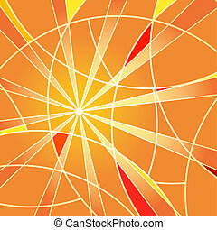 Mosaic orange background