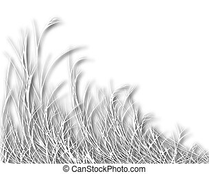 Blowing grass - Illustration of long white grass with...