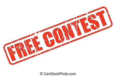 FREE CONTEST red stamp text on white