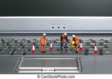2, ďělníci, klaviatura
