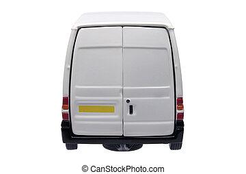 White van rear