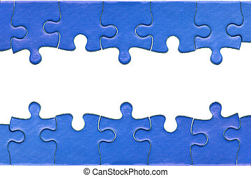 Jigsaw header and footer - Pieces from a genuine blue jigsaw...
