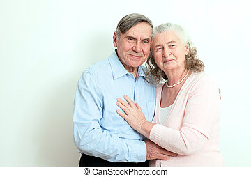 Portrait of candid senior couple enjoying their retirement.