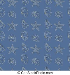 seamless pattern sea shells