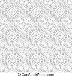 Seamless geometric  pattern, indian ornament, persian motif, vector. Endless texture can be used for wallpaper, pattern fills, web page  background,surface textures.
