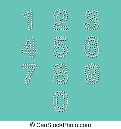 colorful dot number set