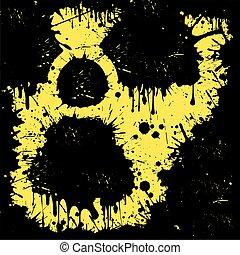 sign of radiation from blots