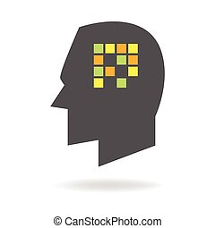 Amnesia Mind Icon - Memory concept graphic, analogy for...