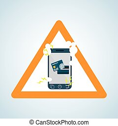 Security system design. warning icon. protection concept -...