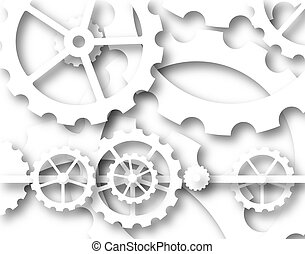 Cogs - Illustrated background of cogs and wheels mechanism