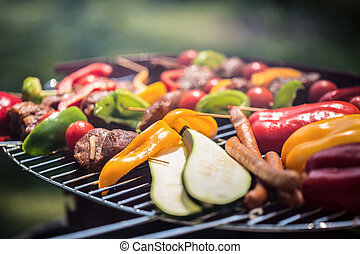 Tasty and healthy food at the barbecue