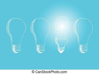 Light Bulb New Old