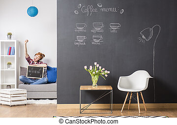 Just use your imagination - Shot of a cosy modern room with...
