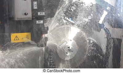 Machine for sharpening a circular saw blade Imitation of...