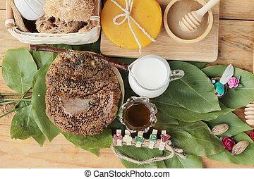 蜂蜜, 心配, 健康, ミルク, ハチの巣