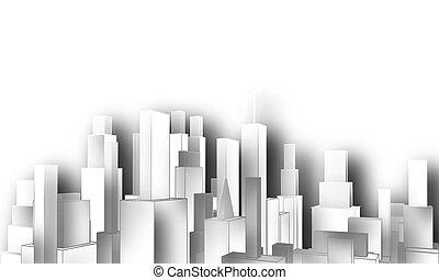 Cutout city skyline