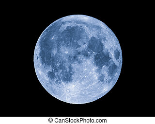 Full moon seen with telescope - Full moon over dark black...