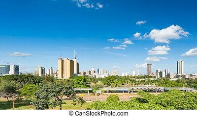 Panning Nairobi Skyline Timelapse - Panning timelapse...
