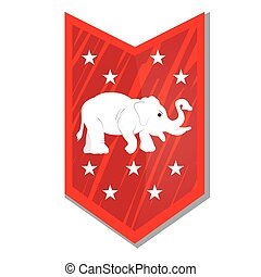Republican - Isolated banner with texture, stars and the...