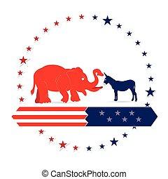 Democrat and Republican