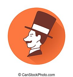 Businessman head symbol - This is an illustration of...