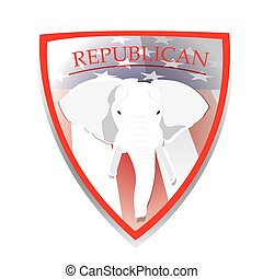 Republican - Isolated heraldry shield with the american...