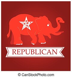 Republican - Isolated republican symbol with a star and a...