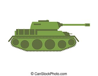 Tank isolated. Military equipment on white background,...