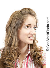 blonde long-haired girl - Portrait of blonde long-haired...