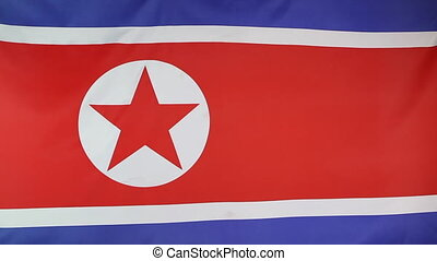 National flag of North Korea - Fabric national flag of North...