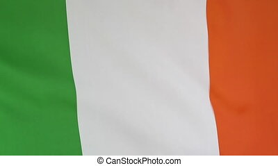 Closeup of the Irish national flag - Closeup of the national...